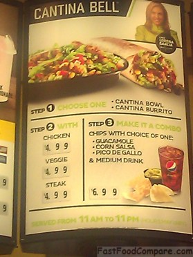 Review of Taco Bell's Cantina Bell Menu