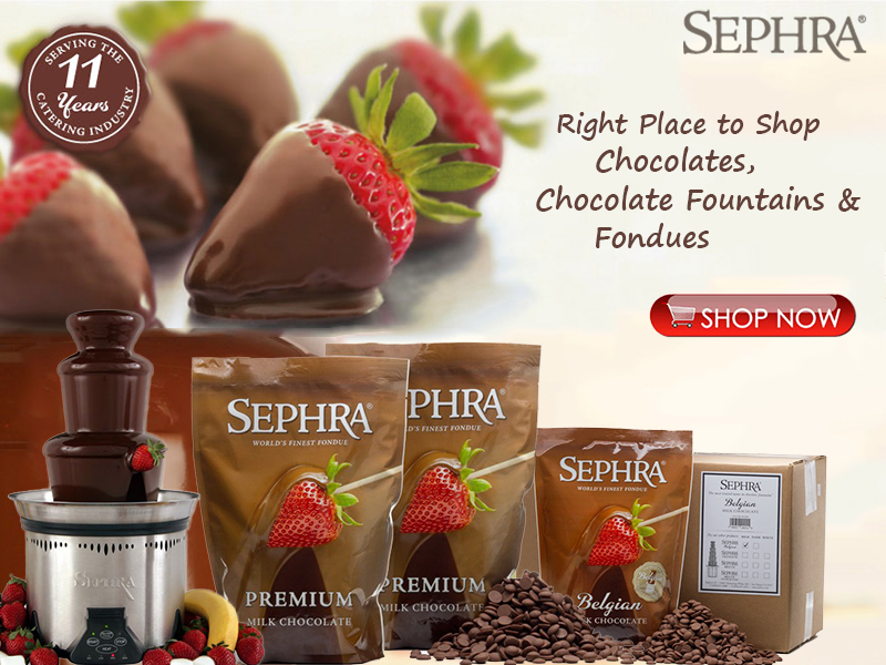 sephra chocolate fountains are recognized worldwide as being the highest quality chocolate fountains available sephra chocolate fountains run quietly and