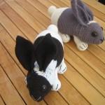 Hæklet kanin ( færdig produkt )