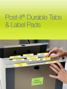 Free Post-it tabs and label pads