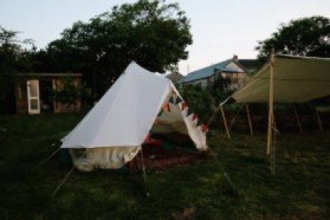 Photograph of accommodation; glamping; at Fat Hen