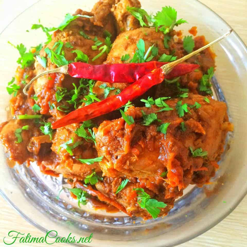 Bhuna Chicken Masala - Seared Chicken Curry - Fatima Cooks