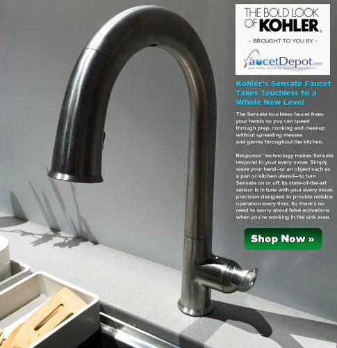 kohler sensate faucet kohler kitchen faucets Kohler Sensate Kitchen Faucet