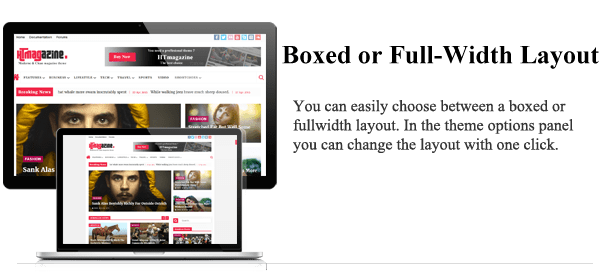 Boxed or Full Width Layout - HTmagazine - Moderne Magazine,News & Blog WordPress Theme