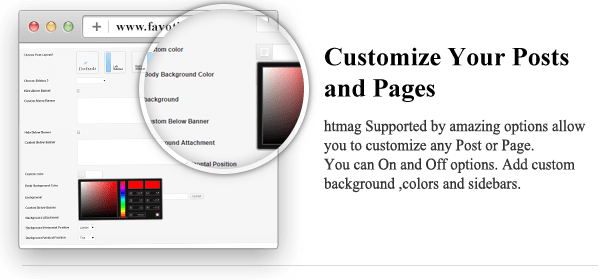 Customize Your Posts and Pages - HTmagazine - Moderne Magazine,News & Blog WordPress Theme