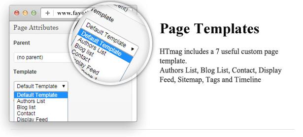 Page Templates - HTmagazine - Moderne Magazine,News & Blog WordPress Theme