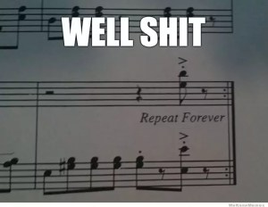 repeat shit