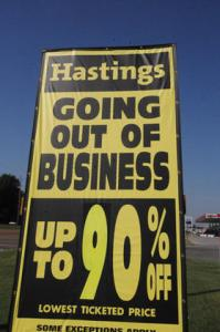 Let The Book Heist Begin: Hastings Entertainment Closing All Stores