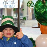 Henry Griffin of Foxborough discovers the joys of the Irish culture at Patriot Place's sixth annual Irish Festival on Saturday, March 14. - Photos courtesy of Patriot Place