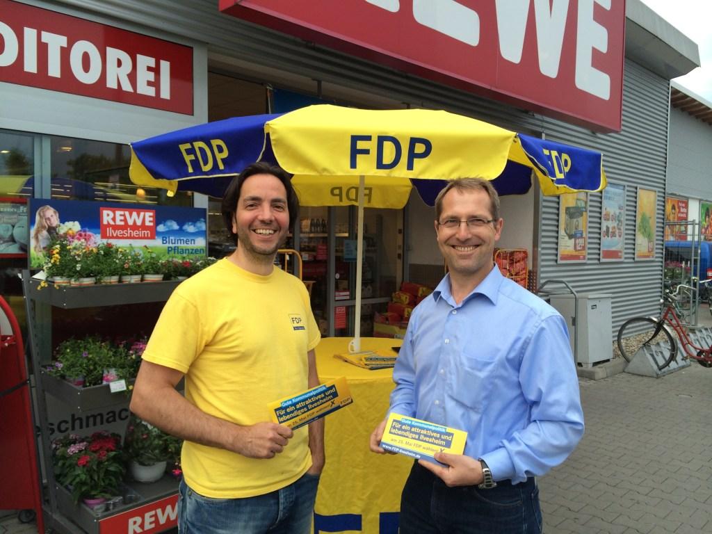 FDP Ilvesheim - Infostand REWE 30.04.2014