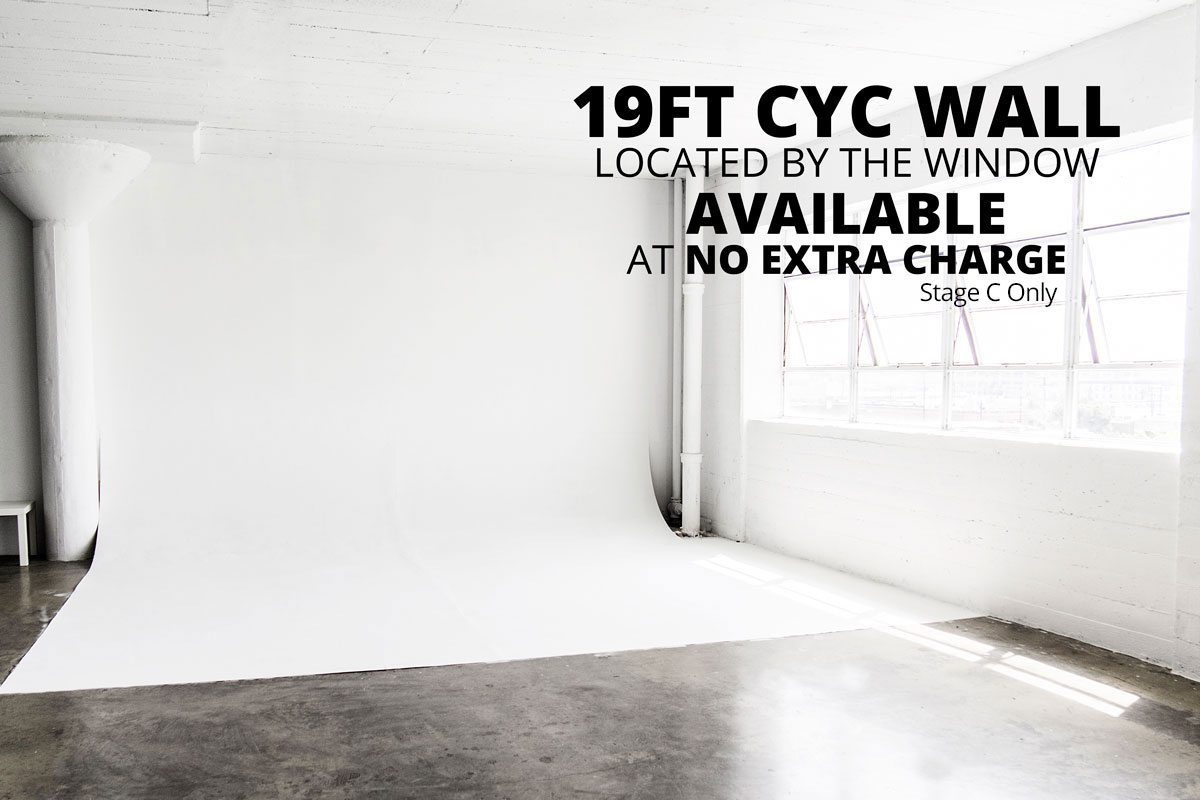 Photo Studio for rent with cyc wall