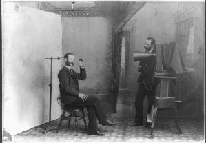 photographer at photo studio