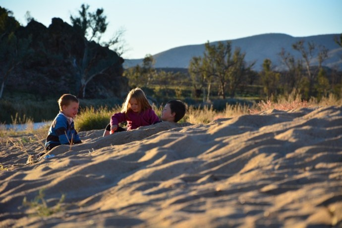 Kids were entertained the whole time we were there playing in the sand!