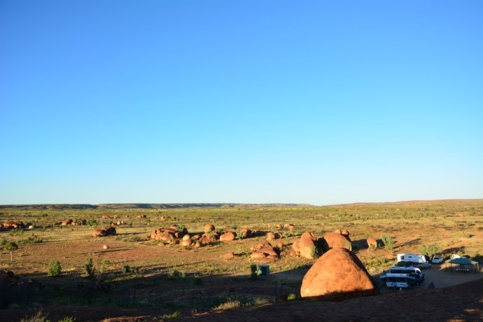 Our campsite at the Devils Marbles