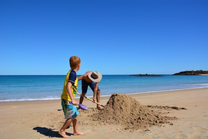 The mission to build the biggest and best sandcastle we have ever made!