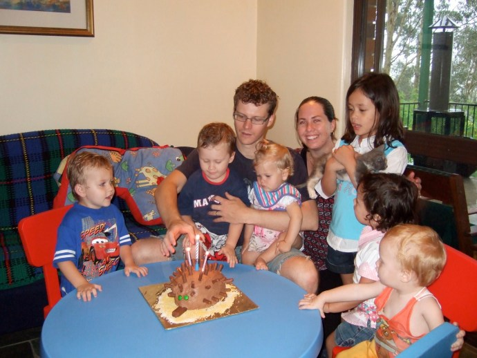 Fealy Family plus a few cousies - Jack's 3rd Birthday