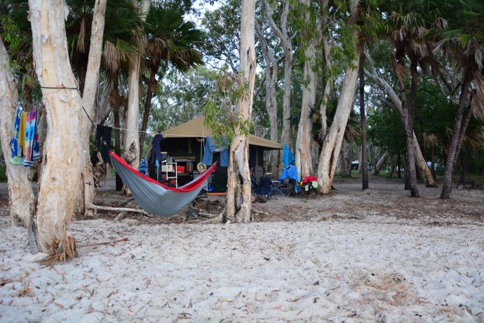 Fealy Family campsite Elim Beach July 2015