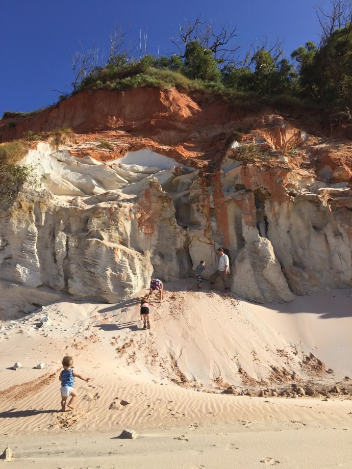 The beautiful coloured sands - definitely worth exploring