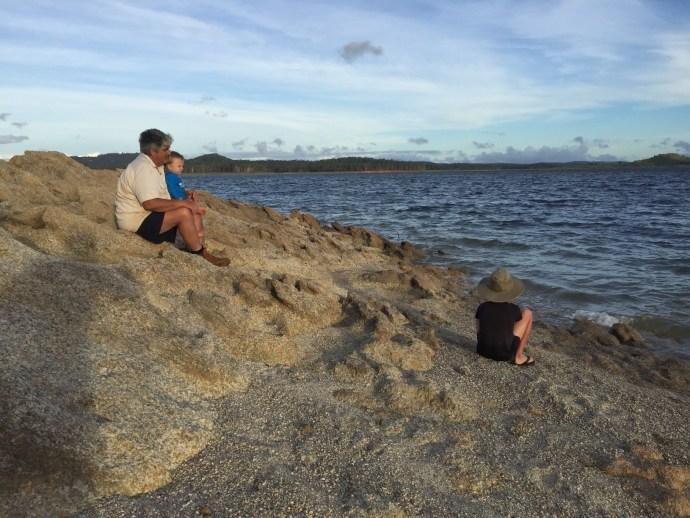 Grunda and Kipp and Toby fishing