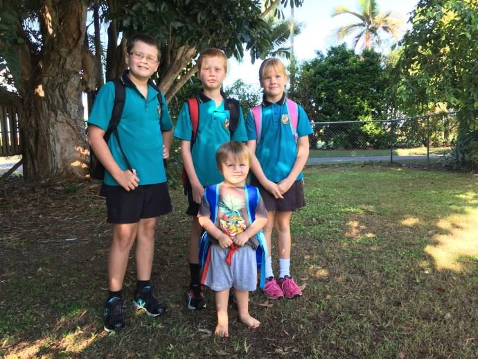 Back to School - Jack Gr6, Toby Gr4, Lexi Gr3, Kipp at daycare