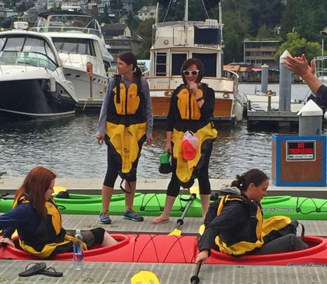 Natasha and Diane settle in the kayak_edited 2