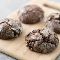 Gluten Free Chocolate Mint Crinkle Cookies