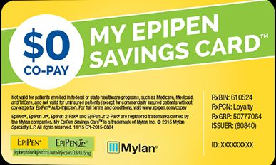 EpiPen Savings Card
