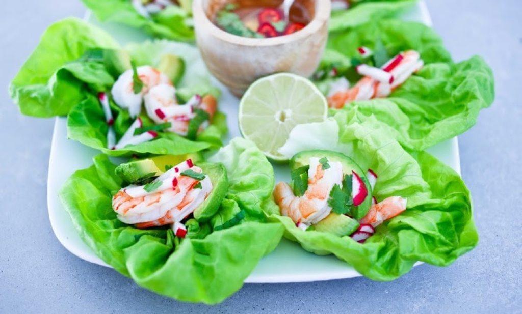 Vietnamese Shrimp and Avocado Lettuce Wraps | www.feastingathome.com
