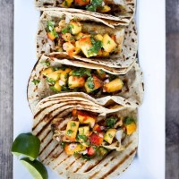 Chipotle Fish Tacos with Peach Salsa