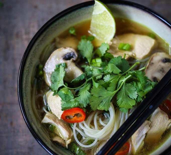 Thai Chicken Noodle Soup   www.feastingathome.com