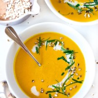 Thai Sweet Potato Soup w/ Lemongrass and Ginger