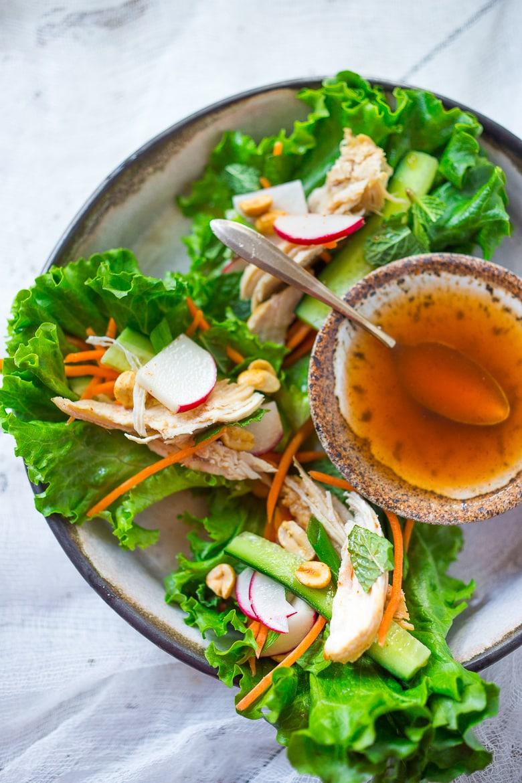 Easy Vietnamese Lettuce wraps