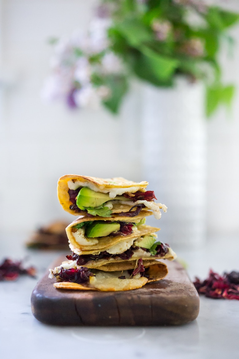 Hibiscus Flower Quesadillas