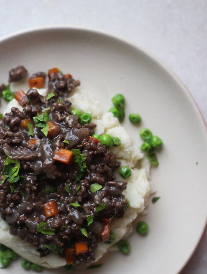 The Lady in the Van: Mince with Potatoes and Peas