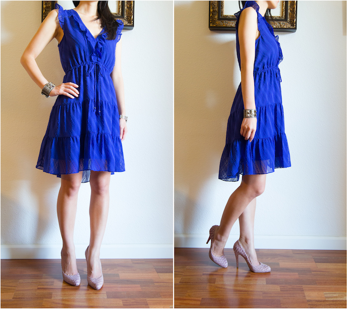 Anthropologie Signe Dress Blue