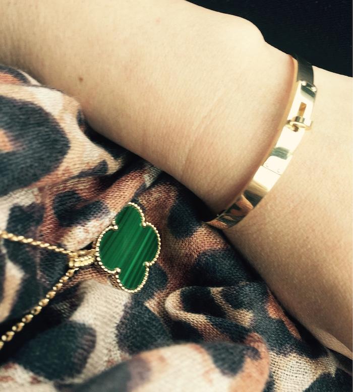 Malachite Van Cleef Hermes Kelly Bracelet Sabi Shawl