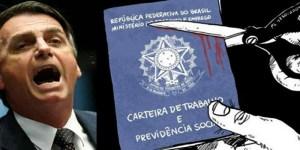 """Bolsonaro cria Carteira de Trabalho verde amarela para os """"sem direitos"""""""
