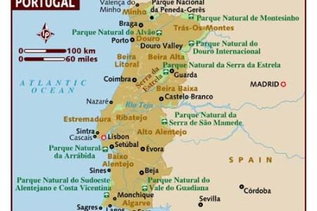 Map Of Western Portugal - Portugal estremadura map