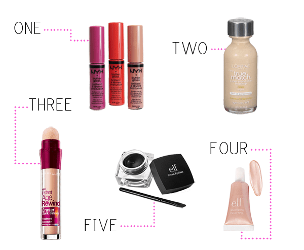 Top 5 drugstore makeup picks under $10