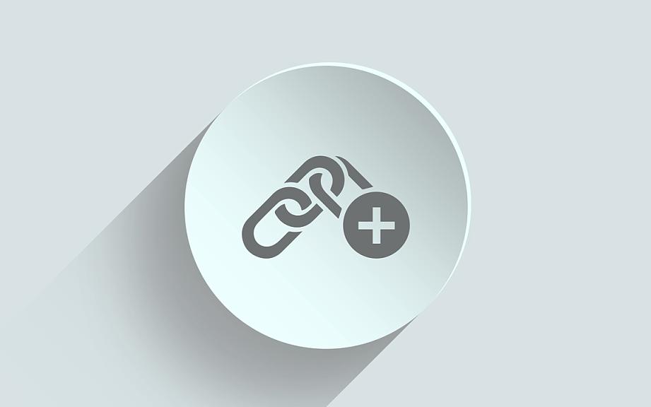 icono de construcción de enlaces.