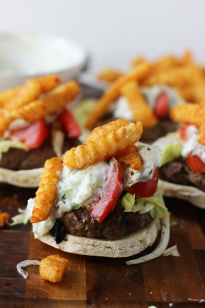 Gyro-Burgers-with-Taziki-Sauce-and-Seasoned-French-Fries