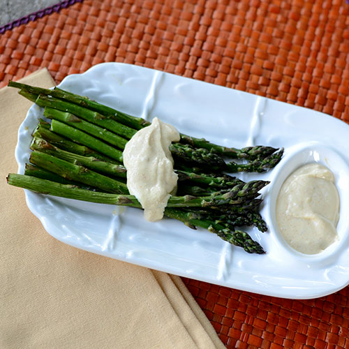 Mock Hollandaise, Greek yogurt, fat-free, spices,
