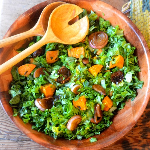 Sweet Potato and Caramelized Shallot Salad - Feed Your Soul Too