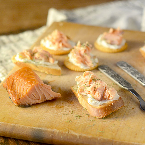 Smoked Salmon Crostini - Feed Your Soul Too