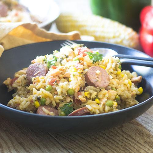 Seafood and Smoked Sausage Jambalaya - Feed Your Soul Too