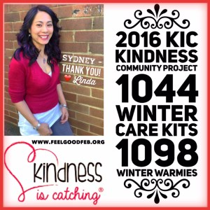 This is an image of KiC Founder Linda Pang and the results of the project for 2016
