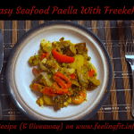 Easy Paella Recipe With Freekeh, Chicken & Seafood