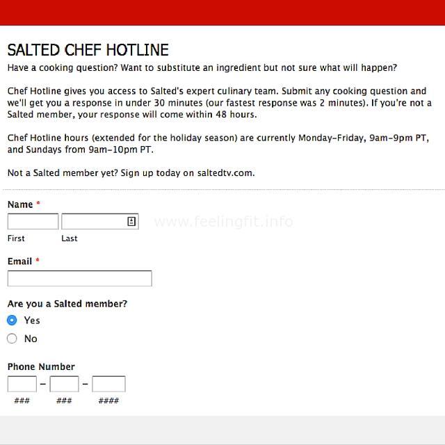 Salted Chef Hotline