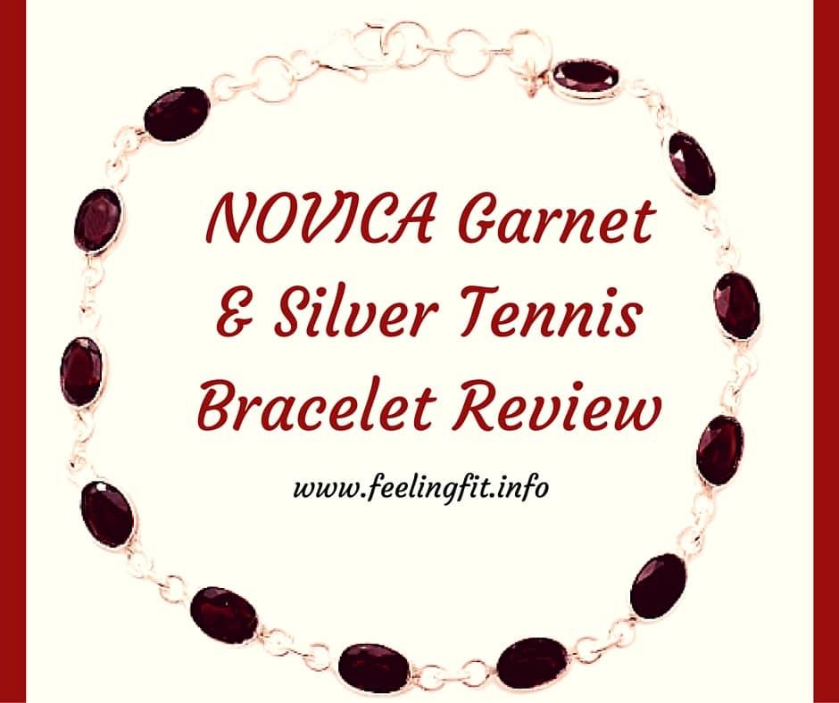 NOVICA Garnet & Silver Tennis Bracelet Review