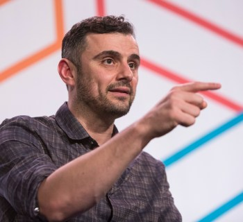 Jeremy Smerd, Executive Editor of Crain's New York Business hosts Gary Vaynerchuk, CEO at VaynerMedia  for Too Good To Fail at Internet Week HQ on Day 2 of Internet Week 2015 in New York May 19, 2015.  Insider Images/Andrew Kelly (UNITED STATES)